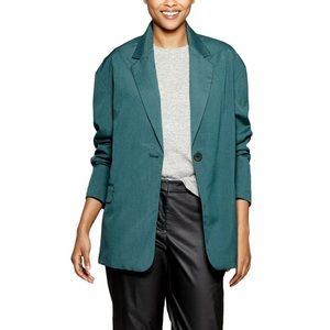 Prologue Green Plaid Oversized Slouchy Blazer S